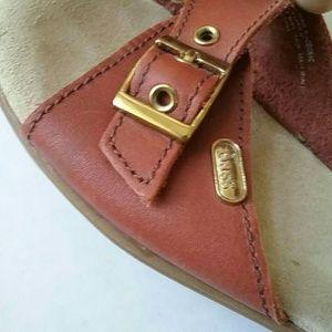 Bass Shoes - Vintage Bass Sunjuns Brown Leather Cushion Sandals